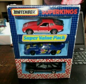 Matchbox Superkings Super Value Pack Posche 944 Zac Speed Mustang Ford Sierra