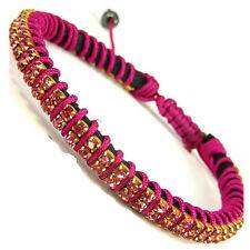 Pulseras de bisutería brazaletes color principal rosa