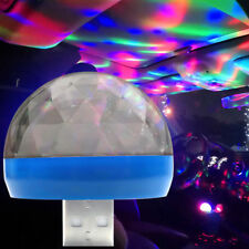 USB Car Interior Neon Atmosphere Lamp RGB LED Colors Light Music/Voice Control