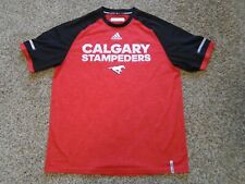 "Adidas CFL ""Calgary Stampeders"" Tee Shirt, Size Large, Climalite"