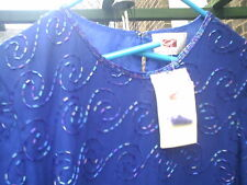 HAMELLS SIZE 16 WOMENS FULLY SEQUIN TOP NWT