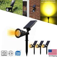 4 Pack Solar Power Spot light LED Garden Outdoor Path Landscape Security Lamp US