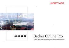 Prospekt Becker Online Pro 9 2001 Broschüre brochure Autoradio car HiFi CD Navi