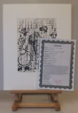 ORIGINAL Marc CHAGALL Lithographie Mourlot 396 STRASSENMUSIKANTEN +Expertise +PP