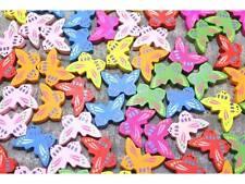 MIX 20 Stück Holzperlen Perlen Schmetterling 17x25mm #8124