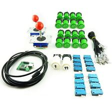 Kit Joystick Arcade 2 player Button American Green Card USB Mame usb