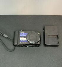 Sony Cyber-Shot DSC-H70 16.1 MP 10x Zoom Digital Camera Black with Sony Charger.