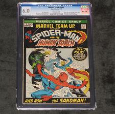 MARVEL TEAM-UP # 1 SPIDERMAN HUMAN TORCH 1972 CGC GRADED 6.0 MISTY KNIGHT APP 95