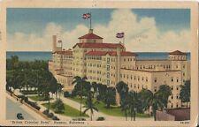 Postcard Bahamas Nassau British Colonial Hotel Linen Postmark 1962