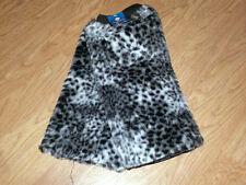 Furry Fur Warm Animal Print LEG WARMERS leggings leopard cheetah zebra