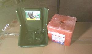 Mineralleckstein 10kg Salzleckstein Leckstein + Lecksteinhalter 0,49€/Kg + 5,90€