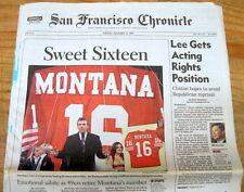 BEST 1997 newspaper SAN FRANCISCO 49ers retire JOE MONTANA # 16  +  JERRY RICE