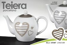 TEIERA IN PORCELLANA DECORATA CUORE COLORI ASSORTITI ELA-655487