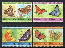 Butterflies Tuvalu Vaitupu Scott #39 - 42 Mint NH Complete Set of 8 stamps (4prs