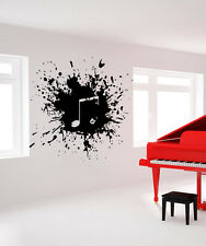 Wall Decal Vinyl Sticker  ink paints blot explosion music note sax Jazz r639