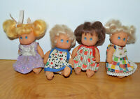 VINTAGE MINIATURE BABY DOLL LOT OF 4 MADE IN CHINA KO 1980S ?