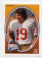 "1991 Upper Deck JOE MONTANA Rare FOOTBALL HEROES #2 ""1981"" San Francisco 49ers"