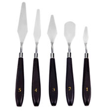 5pcs Stainless Steel Spatula Palette Knife Painting Mixing Scraper Set Tools