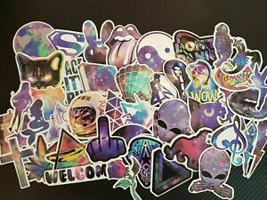 ⭐ 42 Piece Galaxy Space Style Sticker Bomb Sticker For Laptops/Tuning/Suitcase