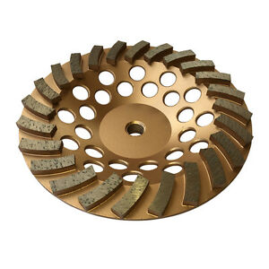 "3PK 7""x24Seg Diamond Grinding Cup Wheels for Concrete stone 5/8""-11 Arbor"