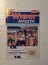 Wigan Athletic v Southend United programme 1987/88
