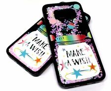 For Samsung Galaxy S8 PLUS WISH BOTTLE PINK HEART GLITTER WATER LIQUID SKIN CASE