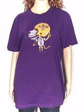 LSU Tigers Football Mascot #1 NCAA SEC College Team Womens XL Purple T-shirt