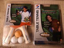 Sportcraft Ping Pong Table Tennis Net & Post Set & 2 Wood Paddles/3 Balls Bronze