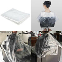 100 Pieces Disposable Hair Cutting Cape Salon Gowns Salon Capes Cloth Apron
