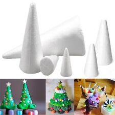 XMAS Polystyrene Styrofoam Tip/Flat Cone Foam DIY Accessory Party Decorations