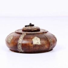 ANTIQUE LOOK VINTAGE OLD WOODEN OPIUM BOX WITH SILVER WORK RARE-EBAY_3400
