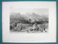 TURKEY Philadelphia City of God - 1840 Antique Print by Allom