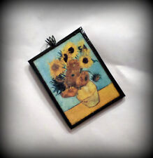 Sunflowers Pendant Vincent van Gogh Handmade Polymer Clay