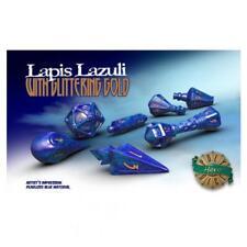 PolyHero Dice: Wizardstone Lapis Lazuli with Glittering Gold Dice Set (7)
