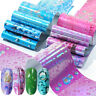 16Pcs/Set Nail Foils Waterdrop Nature Nail Art Transfer Stickers Decoration Tips
