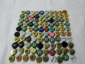 100 Mixed Beer Bottle Tops, Cider, Soft Drink Caps