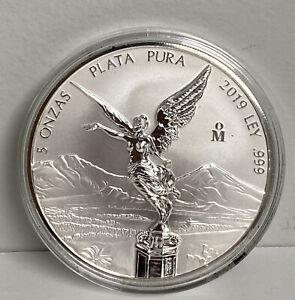Mexico Mo 2019 LIBERTAD 5 oz onza silver Plata coin moneda bullion .999