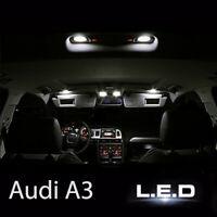 Kit éclairage intérieur ampoules à  LED  Blanc  Habitacle pour Audi A3  8P S3
