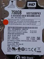 Western Digital WD7500BPKX-00HPJT0 / HA0TJAK / 25 SEP 2013 - 750 GB hard disk