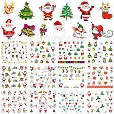 12 sheets Christmas water transfer nail art decoration stickers Santa Claus tree