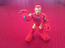 """2012 HASBRO PLAYSKOOL MARVEL SUPER HERO ADVENTURES IRON MAN 5"""" TALL FIGURE!"""