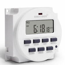 SINOTIMER TM618N-2 220V AC 7 Day Digital Programmable Control Power Timer Switch
