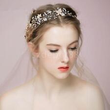 Wedding Silver-tone Flower Pearl Bead Hair Comb Hair Band Bridal Accessories