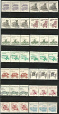United States Transportation Plate Number Coils : Mnh Strips of 3. Great Lot!