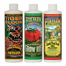 Fox Farm Soil Trio Nutrients Bundle, Big Bloom, Grow Big, Tiger Bloom Pint 16 oz