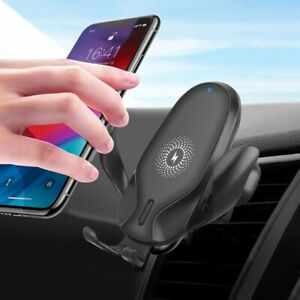 15W Automatic Clamping Qi Wireless Car Charger Mount Air Vent Cell Phone Holder