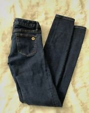 Tory Burch Super Skinny Stretch Jeans Gold Medallion SZ 24