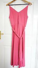 H&M Jersey Crêpe Midi Pink Dress, Size S, V-neck A-line Soft Women Skirt, BNWT