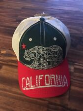 The Game California Republic Green & Red Bear Mesh Trucker Baseball Cap Hat (L2