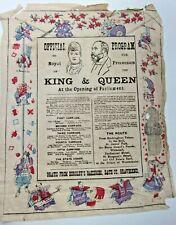 1901? Edward Vii Parliament Programme Fragile Thin Japanese Paper Gravesend Kent